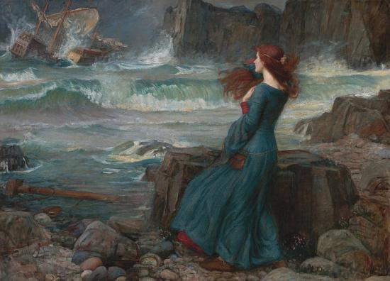 John William Waterhouse, Miranda – The Tempest (1916)