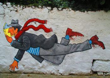 Κείμενο και αναγνώστης. Graffiti του David Pintor